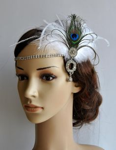 The Great Gatsby20's flapper Headpiece Vintage by BlueSkyHorizons, $43.00