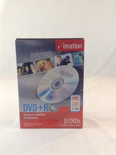 New & Sealed Imation DVD+R 4.7 GB 10 Pack DVD In Slim Case Recording  #Imation