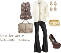 """How to wear trouser jeans.."" by westernglamour on Polyvore"