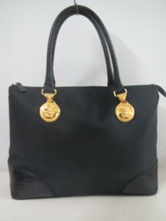 9ea3ea66703 Gianni versace   THE BAGBLOGSHOP.  AUTHENTIC GIANNI VERSACE BLACK HANDBAG  (SOLD)