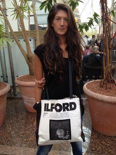 Photokina camera style - Antonella Debellis made this Ilford bag herself!