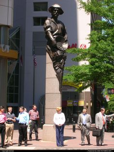 Commerce Statue at The Square, Trade  Tryon, Charlotte, NC.
