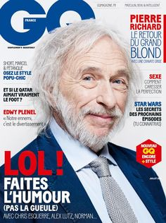 Pierre Richard - GQ Magazine Cover [France] (July 2013)