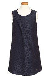 Armani Junior Sleeveless Slant Pleat Dress (Big Girls)