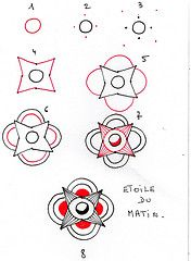 Etoile Du Matin - Zentangle Pattern