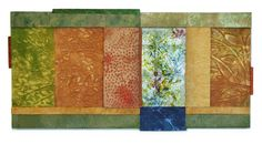 Handmade paper and fused glass by Priscilla Robinson