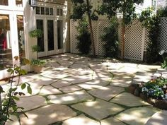 pavers instead of grass