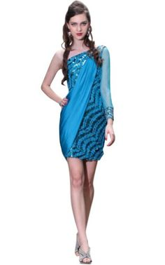 Kingmalls Womans Appliqued Blue Prom Dresses « Clothing Adds Anytime