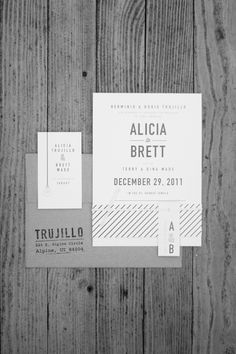 I feel like this is too industrial & cold for a wedding invite....cool design, nonetheless.