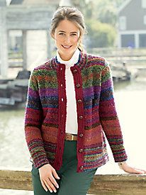 Fair Isle Boucle Cardigan by Appleseed's