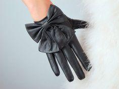 Kurze Handschuhe aus echtem Leder  schwarz  echtes von EastWorkshop, $17.98