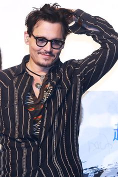 Johnny Depp in China promoting Transcendence, March 31 2014
