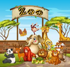 Many animals at the zoo Free Vector Female Bald Eagle, Emerald Tree Boa, Le Zoo, Baby Tigers, Cool Anime Wallpapers, Trivia Quiz, Zoo Animals, My Favorite Part, Vector Free