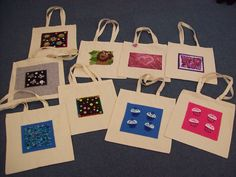 Bags with felt panels