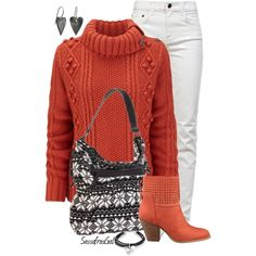 Sweater, Boots & Jeans II, created by sassafrasgal on Polyvore