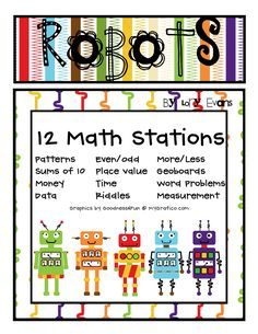 Math Stations: make file folders for each. Kids get punch cards for each numbered file they complete.
