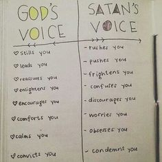 God's voice verses Satan's voice