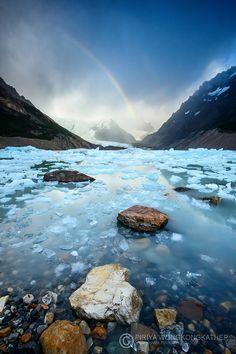 """etherealvistas: """"Rainbow on Ice by Pete Piriya """""""