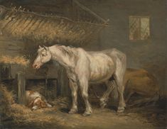 Horses In Art History | ... Morland - Old horses with a dog in a stable - Google Art Project.jpg