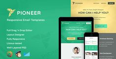 Pioneer-Professional Email Template + Editor