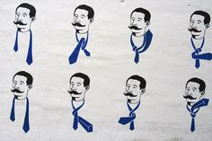 How to tie a tie. Useful information found on a wall in Reykjavik, Iceland