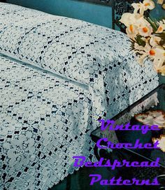Vintage Crochet Bedspread Patterns make great cloth!