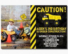 Construction Birthday Invitation  Construction by PuggyPrints, $7.99