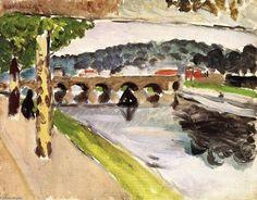 """""""Parade, Platanes"""", óleo sobre tela por Henri Matisse (1869-1954, France)"""