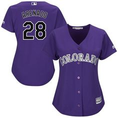 6cadad5f2 Nolan Arenado Colorado Rockies Majestic Women s Alternate Cool Base Player  Replica Jersey - Purple