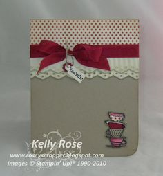 Kelly Rose, Independent Stampin' Up! Demonstrator: Stampin' Up! Morning Cup card with Eyelet lace