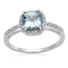 Blue Topaz-December birthstone...not a December b-day but I LOVE this ring.  Gorgeous!