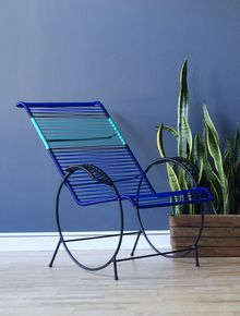 Chivo Loung Chair ~  Blue/Teal