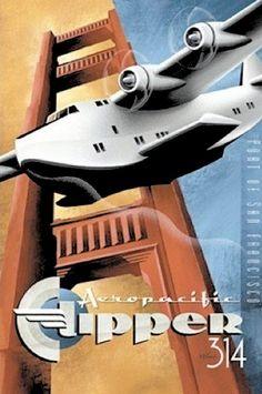 Aeropacific Clipper 314, c.1936 (Artist Michael Kungl)