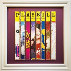 Broadway Musicals 2016- 2017 Season Broadway Playbill Art. Design fetures 8 different authentic Broadway Playbill covers. These are not copies of Playbill covers, they are all originals. This piece focuses on shows the new musicals from the 2016-2017 Broadway season. Included are: Groundhog Day, Dear Evan Hansen, Charlie and the Chocolate Factory, Anastasia, Amélie, Come From Away, Great Comet of 1812 and War Paint. Each piece is handcrafted and mounted on acid free archival paper and…