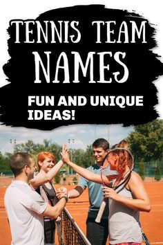 Choosing a name for your tennis team can be a fun thing to when preparing for your first tournement. Her are some fund ideas to get you started!