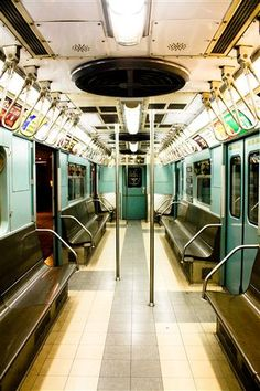 affordable artwork, I like the colors and the sense of space. New York City Subway in Mint Green