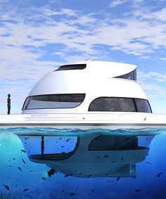 jet capsule updates U.F.O houseboat for open water