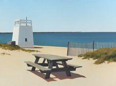 Jim Holland - Present), American Artist - Picnic Spot - 30 x 40 Fantasy Landscape, Landscape Art, Landscape Paintings, Landscapes, Jack Vettriano, Edward Hopper, American Scene Painting, Dutch Painters, Pastel
