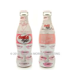 Glass contour Coca-Cola Light bottle issued in 2004. Designed by Elio Fiorucci.
