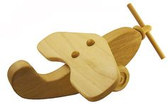 Wooden Toy Plane  Handmade All Natural Wood by ZaidysWoodToys