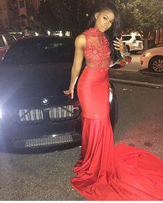 Slayed! #beauty #beautifulgirl #beautiful #black #melanin #pretty #prom2k16 #prom #sheer #golden #red #amazing #gorgeous #style #promslay
