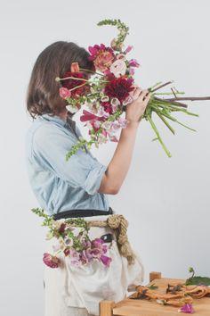 Foxes and Wolves // Editorial // Apron  @Kristin Morrison  #photography #studio #naturaldye #fiberartist #flowers #editorial