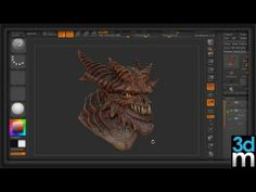 ▶ Polypainting in zBrush - 3dmotive - YouTube