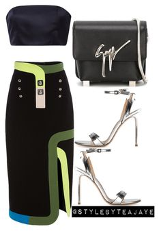"""""""Untitled #1729"""" by stylebyteajaye ❤ liked on Polyvore featuring Peter Pilotto, Katie Ermilio, Gianvito Rossi and Giuseppe Zanotti"""