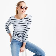 Long-sleeve striped painter T-shirt : Striped | J.Crew