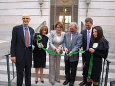 November - GSA reopened its Pacific Rim regional headquarters at 50 United Nations Plaza in San Francisco.  The historic building is on track to achieve LEED Platinum certification. (L to R) Artist Cliff Garten, GSA Pacific Rim Regional Administrator Ruth Cox, U.S. Rep. Nancy Pelosi, San Francisco Mayor Ed Lee, GSA Administrator Dan Tangherlini, Michele MacCracken, HKS Architects. Photo credit: Blake Marvin/HKS, Inc.