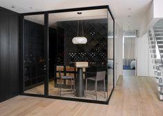 Wine Room - contemporary - wine cellar - new york - d'apostrophe design, inc.