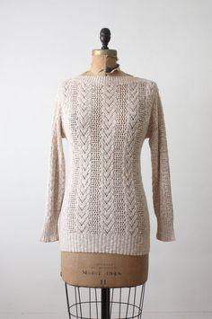 vintage heathered oatmeal sweater.
