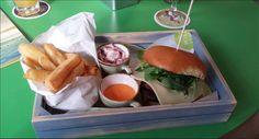 Burger tray - great presentation