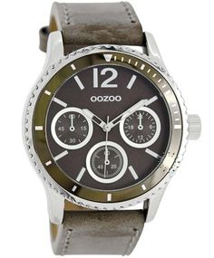 OOZOO Timepieces Dark Khaki Leather Strap Τιμή: 69€ http://www.oroloi.gr/product_info.php?products_id=32151